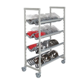 Camshelving® Premium Mobile Angled Drying Rack Cart