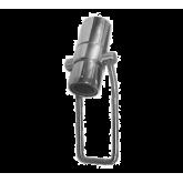Shut off valve with push bar