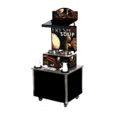 Cayenne® Soup Kiosk-free standing Merchandiser with Tuscan graphics