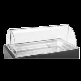 Cubic full size acrylic roll top lid. 22 7⁄16  L x 14 9⁄16  W x 6 7/8  H.