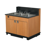 Triple Bay Hand Sink Cart