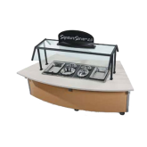 Signature Server with Laminate or Corian® Countertops - 34  ADA CURVED Frost Top Station Base