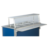 46  Cafeteria Single Deck with stainless steel front & end panels welded to uprights
