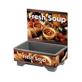 Cayenne® 72020 Full Size Rethermalizing Model 1220 Soup Merchandiser with Country Kitchen Graphics