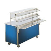 46  Cafeteria double-deck double side service display shelf