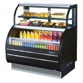 Open Display Merchandiser Combination Case with Refrigerated Top Shelf