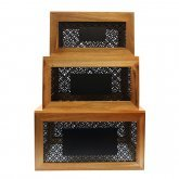 Farmhouse Collection™ Crate Set with Chalkboard
